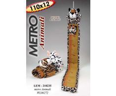 Il tuo bimbo cresce: metro animaletto in stoffa con asta di misura per bimbi; 4 soggetti assortiti, giraffa tigre elefante leone; inviare mail per la preferenza
