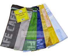 N.6 ASCIUGAPIATTI-STROFINACCI EQUART Disegno Jacquard 100% COTONE EGIZIANOMis.50x70 Colori Assortiti