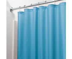 InterDesign 14644EU Tenda Doccia Anti-Muffa, Impermeabile, Azzurro, 180x180x0.25 cm