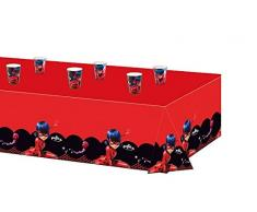 Tovaglia plastica, 120 x 180 cm, tema: coccinella