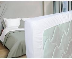 Nuit des Vosges 2094459 Cotoval Lenzuolo con angoli cotone in tinta unita Bianco 80 x 190 cm