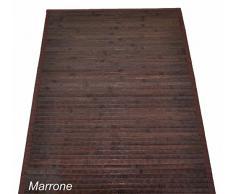 Bambù liscio tappeto passatoia cm 120x180 [VERDONE]