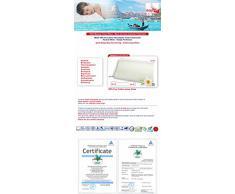 Venixsoft Cuscino Memory Foam Anti cervicale Doppia Onda Traspirante sfoderabile, Dispositivo Medico Classe I-Made in Italy, 70x40x10/12 cm, MOD Luxury, 2 Unità