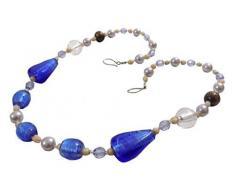 2 x BLUE color panna con perline in vetro acrilico addobbiamo ferma tenda GEM trattenute 76,2 cm 76 cm