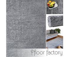 Tappeto moderno Colors grigio argento 160x230cm - tappeto shaggy pelo lungo super economico