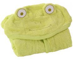 Minene, Asciugamano avvolgente per bambini, con cappuccio, 80 x 135 cm, Verde (grün)