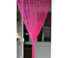 1001 Wohntraum F06, linea Fadenstore - Tenda a fili, 100 x 200 cm, colore rosa