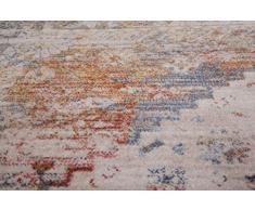 Tradizionale orientale antico stile vintage a mano tappeto multicolore e argento in 2 misure tappeto, Vintage 703 Multi, 120x170 cm (4'x5'6'')