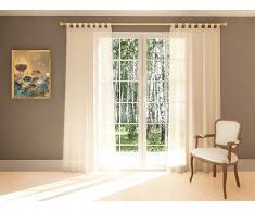 Splendid Collezione Diana - Tenda con Passanti, 140 x 245 cm, Colore Bianco Seta