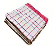 Confezione AA TEX con 10 strofinacci da cucina (50 x 70 cm) - Asciugamani da cucina in cotone, qualità professionale, multicolore, strofinacci in cotone, super assorbenti.