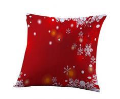 """Cuscino di Christmas, Longra Cerniera nascosta 45cm * 45cm / 18 """"x18"""" tema multicolore di Natale Cotone miscela Cuscino smontabile e lavabile cuscino (B)"""