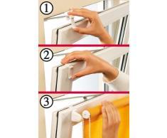Gardinia Tenda a rullo con morsetto di fissaggio o adesiva, Per luce diurna, Opaca, Kit di montaggio incluso, EASYFIX Tenda a rullo Naturale, Bianco, 75 x 150 cm (LxA), tessuto