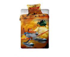 Jerry Fabrics JF060 - Set biancheria letto, motivo: Disney Planes, composto da 1 coperta 140 x 200 cm e 1 federa 70 x 90 cm, 100% cotone