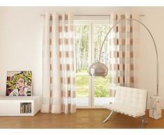 Splendid Collezione Florence - Tenda con Occhielli, 140 x 245 cm, Colore Beige