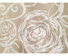 Set 6 strofinacci - canovacci da cucina cm 50x70 - Made in Italy - Amelie bianco Rose shabby chic