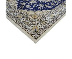 Tappeto stile orientale economico disegno persiano Nain SALON 2026-BLU Cm.160X230