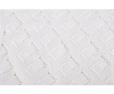 Love Cashmere Pregiata Coperta da Bambino in Cashmere al 100% (Cashmere Baby Blanket) - Bianco - Realizzato a mano ad in Scozia
