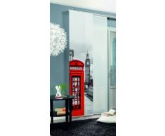 Home fashion Big Ben Tenda a Pannello, Poliestere, Rosso, 245 x 60 cm