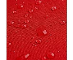 Breaker Teflon - tessuto in poliestere con un rivestimento acrilico - stoffa al metro (rosso)
