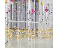 VORCOOL Adesivi per finestra in vetro smerigliato Decalcomanie per vetri per finestre floreali autoadesive nere per bagno 45x100cm