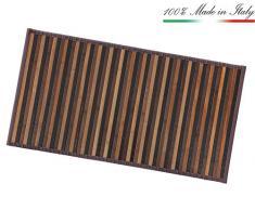 ARREDIAMOINSIEME-nelweb Tappeto Bamboo Legno Stuoia Cucina Bagno Camera Degradè Varie Misure Passatoia bambù Retro Antiscivolo MOD.Bamboo 50X380 Marrone (C)