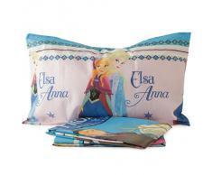 Completo lenzuola Principessa Frozen Art. Anna ed Elsa Disney singolo N163