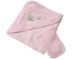 Easy Baby 360-82 - Sleeping Bear Asciugamano con cappuccio, colore: Rosa