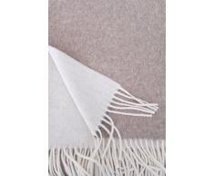 Plaid Cashmere doppio lato, copriletto con percentuale Kashmir, 150 x 195 cm colore: beige/crema