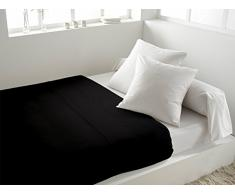 Lenzuola matrimoniali piano in tinta unita 260 x 300 cm ATMO nero