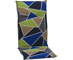 BEO giardino cuscino per sedia a sdraio Graphic Design circa 118 x 48 x 6 cm, Multicolore
