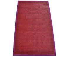 Bamboo Tamburato tappeto passatoia cm 70x140 [VIOLA]