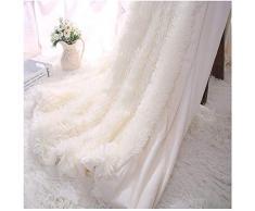 Kaihong, coperta in microfibra e pelliccia sintetica, leggera, soffice, per divano o letto, 130 x 160 cm, colore: bianco, Poliestere, bianco, 130 x 160,bianco crema