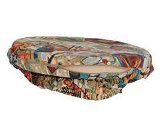 Casa Tessile Picture cuscino coprisedia ROTONDO con fascia - BLU