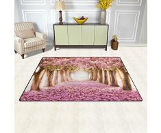 """Naanle Giappone giapponese fiori di ciliegio tappeto antiscivolo per per camera da letto, soggiorno, cucina 50 x 80 cm (1.7 """" x 2.6 ft), romantico Sakura Flower albero nursery tappeto da pavimento tappetino yoga, Multi, 50 x 80 cm(1.7' x 2.6')"""