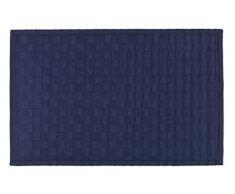 Wenko 22109100 - Tappeto da bagno Adria, in polipropilene / bambù / plastica, 54,5 x 8,5 x 8,5 cm, Bambù, blu, 54.5 x 8.5 x 8.5 cm
