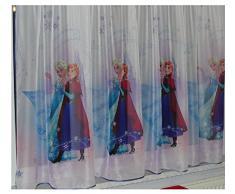 Disney FR0ZEN II REGNO DI GHIACCIO Tenda con passanti Cameretta in Voile 75cm L x 157 cm A FROZEN