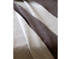 "'Plaid Cashmere double-face ""colore: marrone/crema 135 x 185 cm Made in Germany"