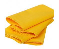 LinenMe - Tovaglioli in cotone e lino Paula, 49 x 49 cm, 4 pz, colore giallo