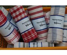 10 strofinacci - Colori misti - 50 x 70 cm - cotone merce di seconda scelta con leggeri difetti nella tessitura che non ne compromette il funzionamento