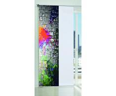 Home fashion Stain 87859-704 - Tenda a pannello con stampa digitale, motivo decorativo, 245 x 60 cm, multicolore