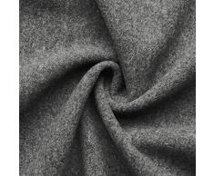 Hannah - tessuto in lana italiano - pesante & morbido - stoffa/tessuto al metro (grigio melange)