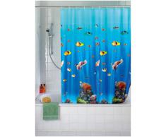 WENKO Tenda Doccia Ocean, Pellicola Sintetico, Materiale Plastico, 180 x 200 cm, Multicolore