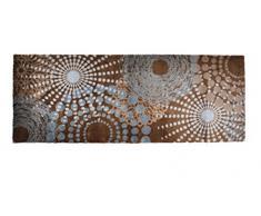 Lifestyle-Mat 100963 passatoia Punti antiscivolo e lavabile, ideale per il guardaroba, la cucina o la camera da letto 67 x 170 cm, grigio / marrone