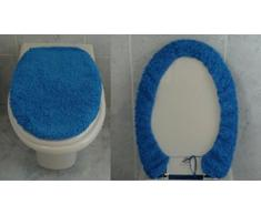CASA TESSILE Copri ASSE WC Velluto cm 50X45 - Bianco