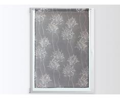 Soleil dOcre 043674 Tenda in poliestere, motivo floreale, 60Â x 90 cm, Poliestere, grigio, 60 x 90 cm