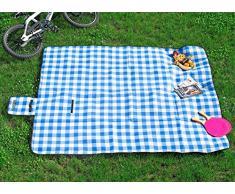 Pearl - Coperta da picnic in pile, 200 x 175 cm, superficie inferiore idrorepellente