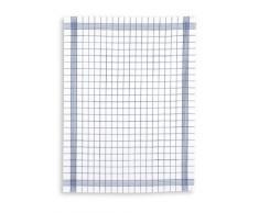 Tobeni Strofinacci in misto lino semi in confezione da 10 Bianco Catering qualità, Size:60 cm x 80 cm;Color:Blue