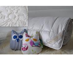Orsetto in lana merino Piumone per lettino per bambini Letto juniorcot 120 x 150 cm, 500 g/mq. Letto Naturale. Regalo perfetto per lettino letto