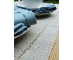 LinenMe 1-Pezzo 40 x 200 cm runner da tavolo lino Emil, naturale