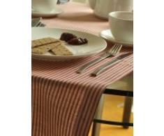 LinenMe runner da tavolo lino / cotone Jazz, rosso